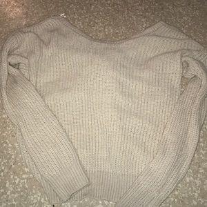 Cute open back Sweater